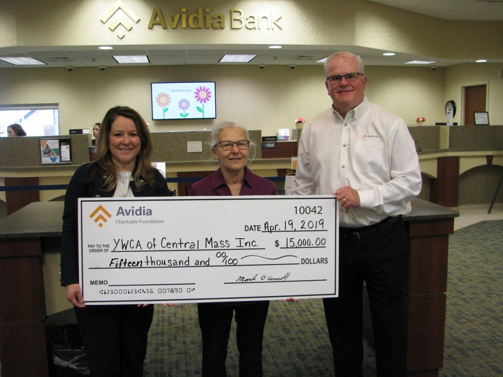Avidia Charitable Foundation donation to YWCA Central Massachusetts
